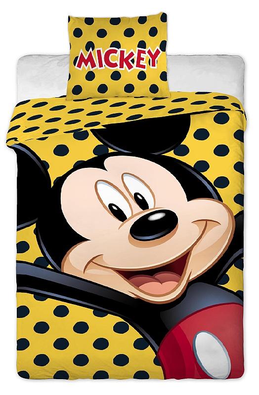 Dětské bavlněné povlečení Disney Mickey yellow