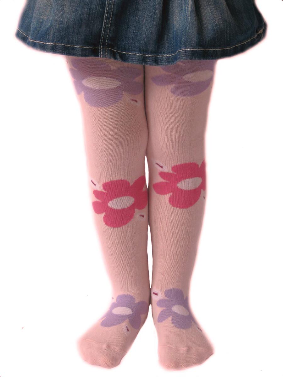 Dětské punčocháčky Design Socks Velká kytka barevná