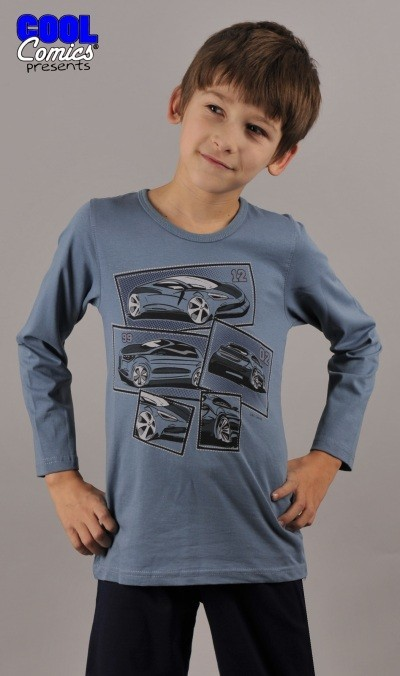 Dětské pyžamo dlouhé Vienetta Secret Auto Sporťák