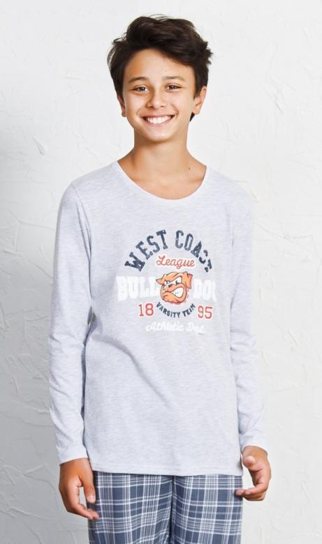 Dětské pyžamo dlouhé Vienetta Secret Bulldog