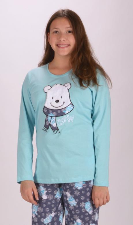 Dětské pyžamo dlouhé Vienetta Secret Medvídek