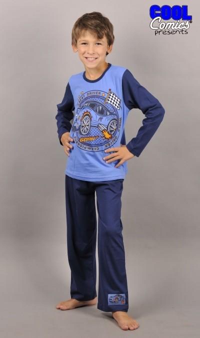 Dětské pyžamo dlouhé Vienetta Secret Auto Champions