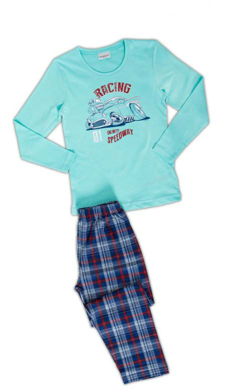 Dětské pyžamo dlouhé Vienetta Secret Auto Racing