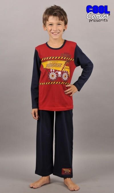 Dětské pyžamo dlouhé Vienetta Secret Auto Truck