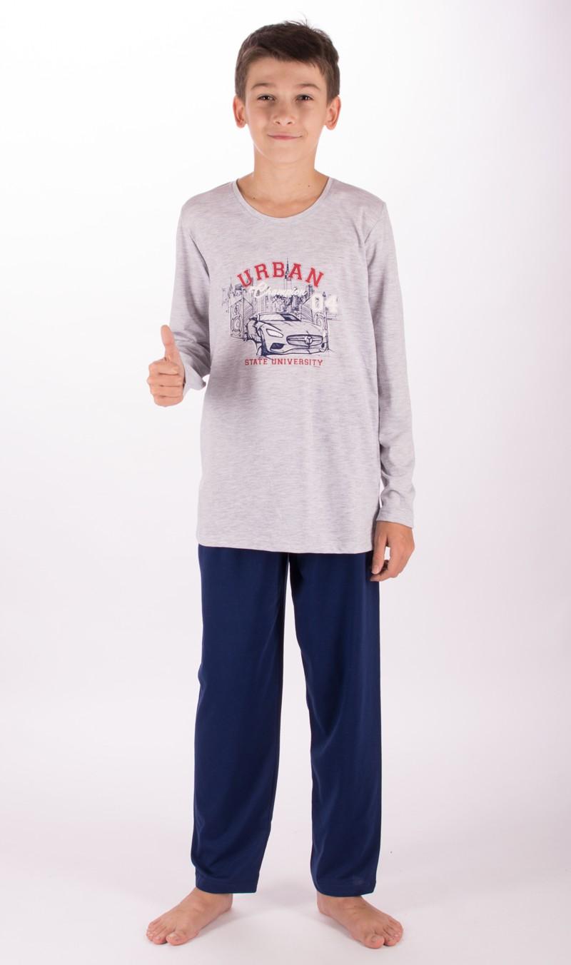 Dětské pyžamo dlouhé Vienetta Secret Auto Urban