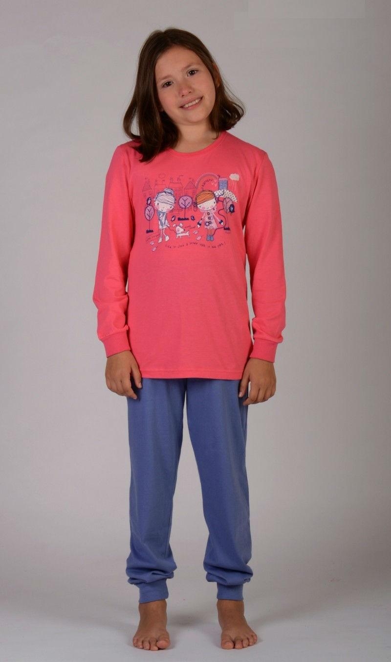 Dětské pyžamo dlouhé Vienetta Secret Dívky ve městě