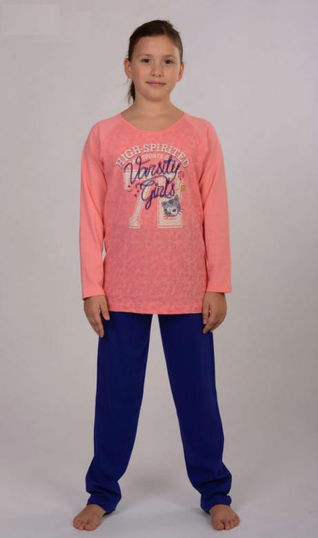Dětské pyžamo dlouhé Vienetta Secret Girls