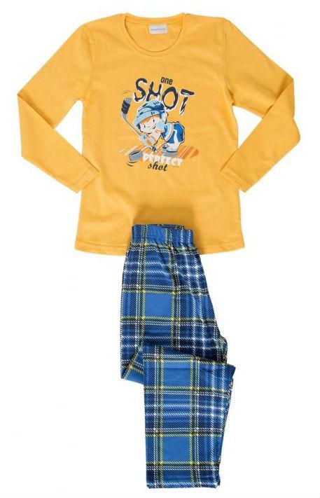 Dětské pyžamo dlouhé Vienetta Secret Hokejista