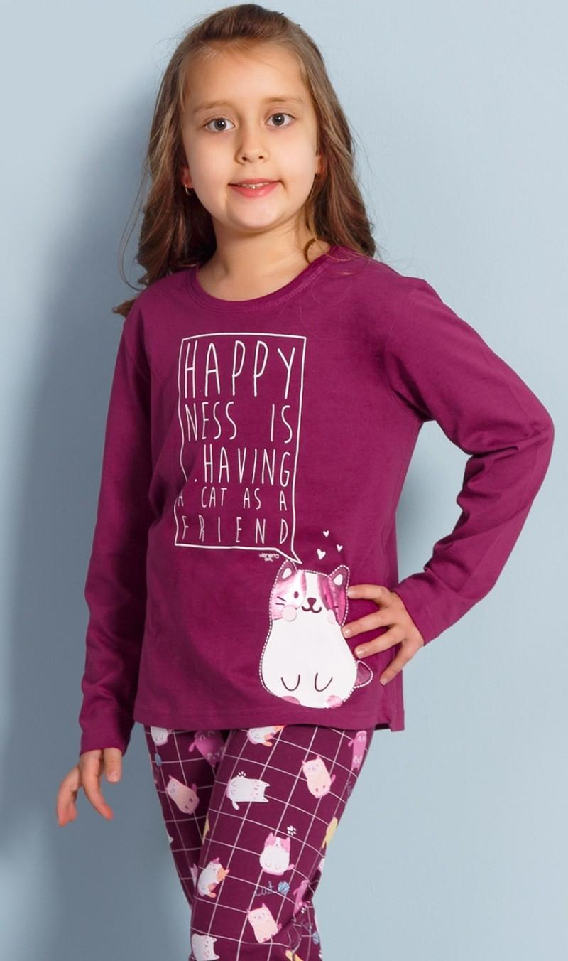 Dětské pyžamo dlouhé Vienetta Secret Kotě