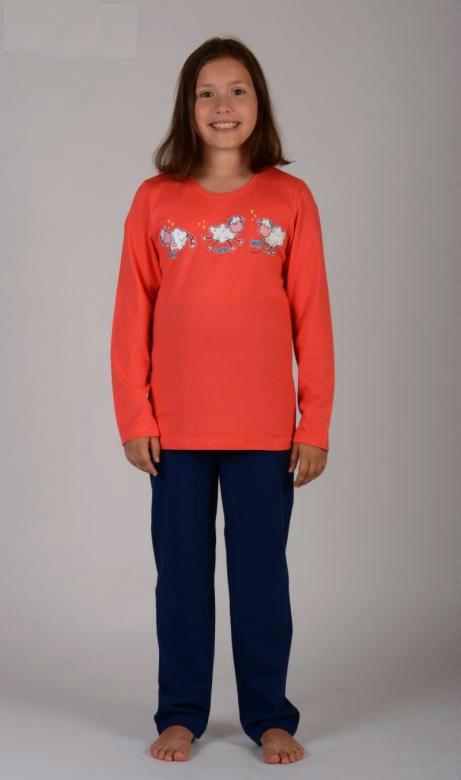 Dětské pyžamo dlouhé Vienetta Secret Malé ovce