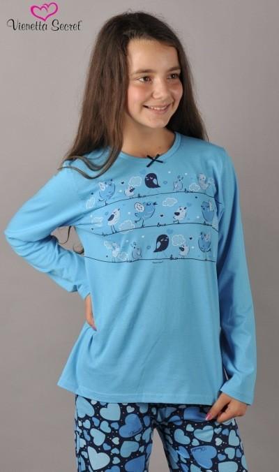 Dětské pyžamo dlouhé Vienetta Secret Malí ptáci