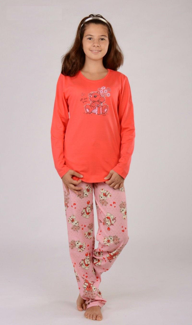 Dětské pyžamo dlouhé Vienetta Secret Medvěd Gift