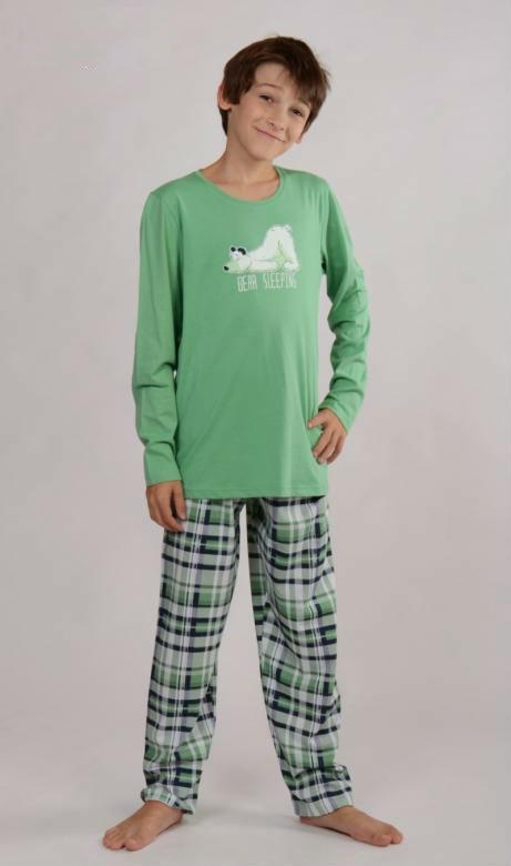 Dětské pyžamo dlouhé Vienetta Secret Medvěd ospalec
