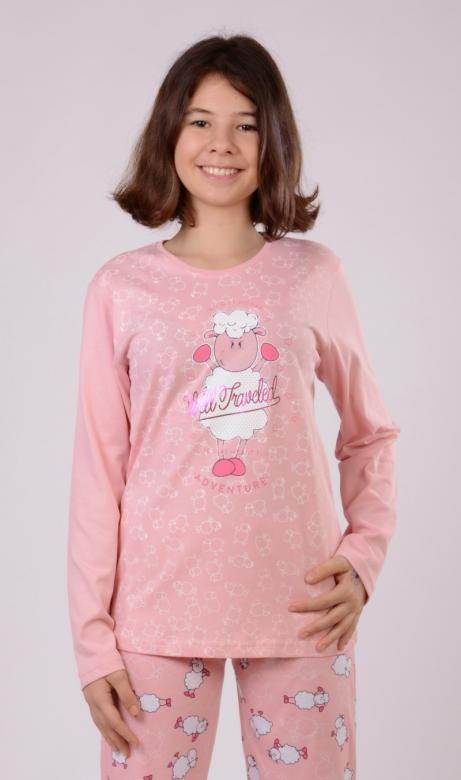 Dětské pyžamo dlouhé Vienetta Secret Ovce Adventure