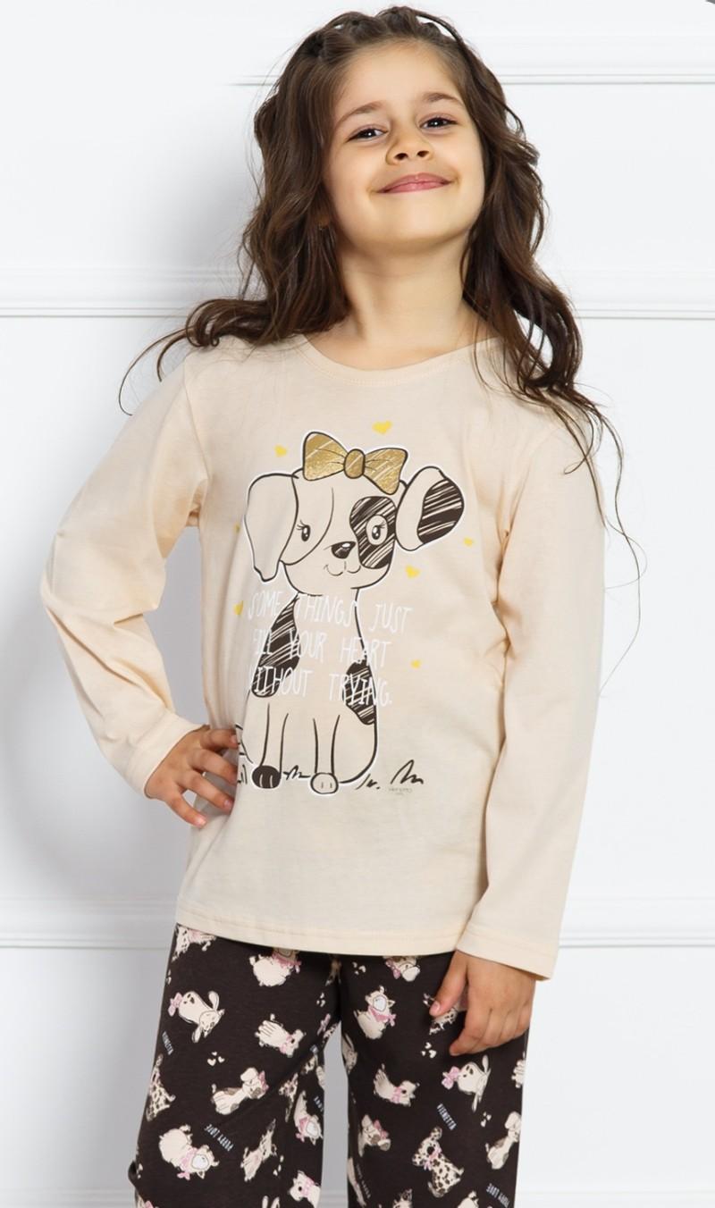Dětské pyžamo dlouhé Vienetta Secret Štěně
