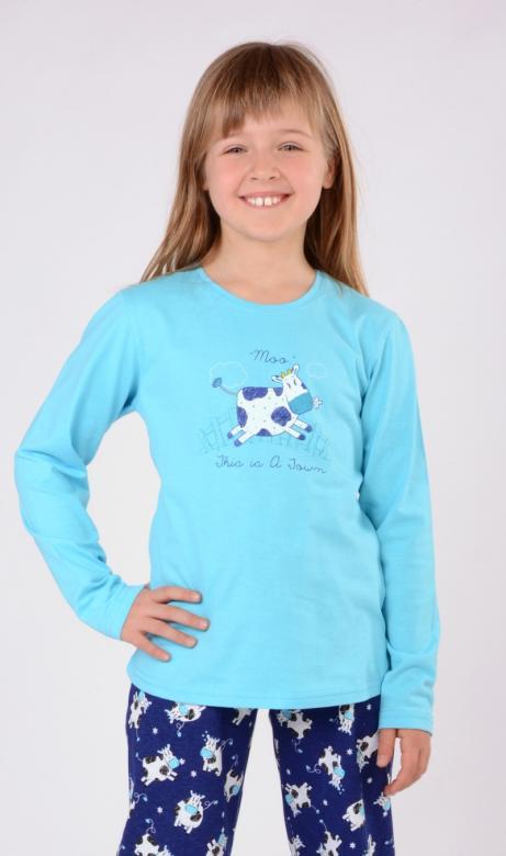 Dětské pyžamo dlouhé Vienetta Secret Tele na louce
