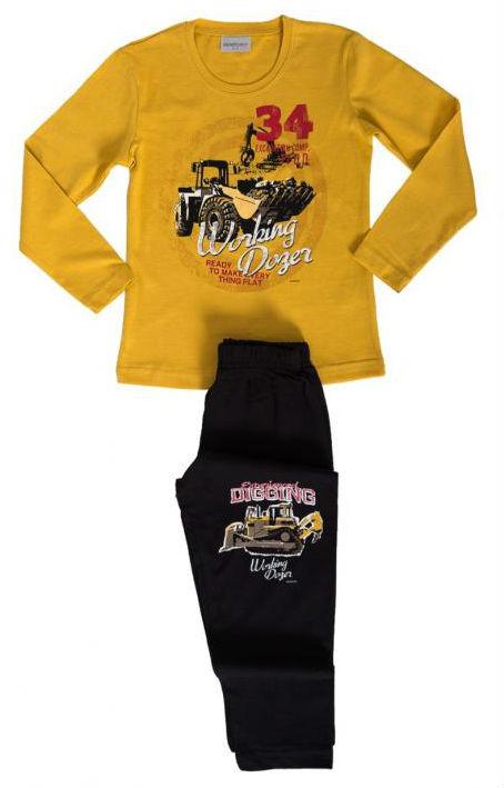 Dětské pyžamo dlouhé Vienetta Secret Traktorbagr