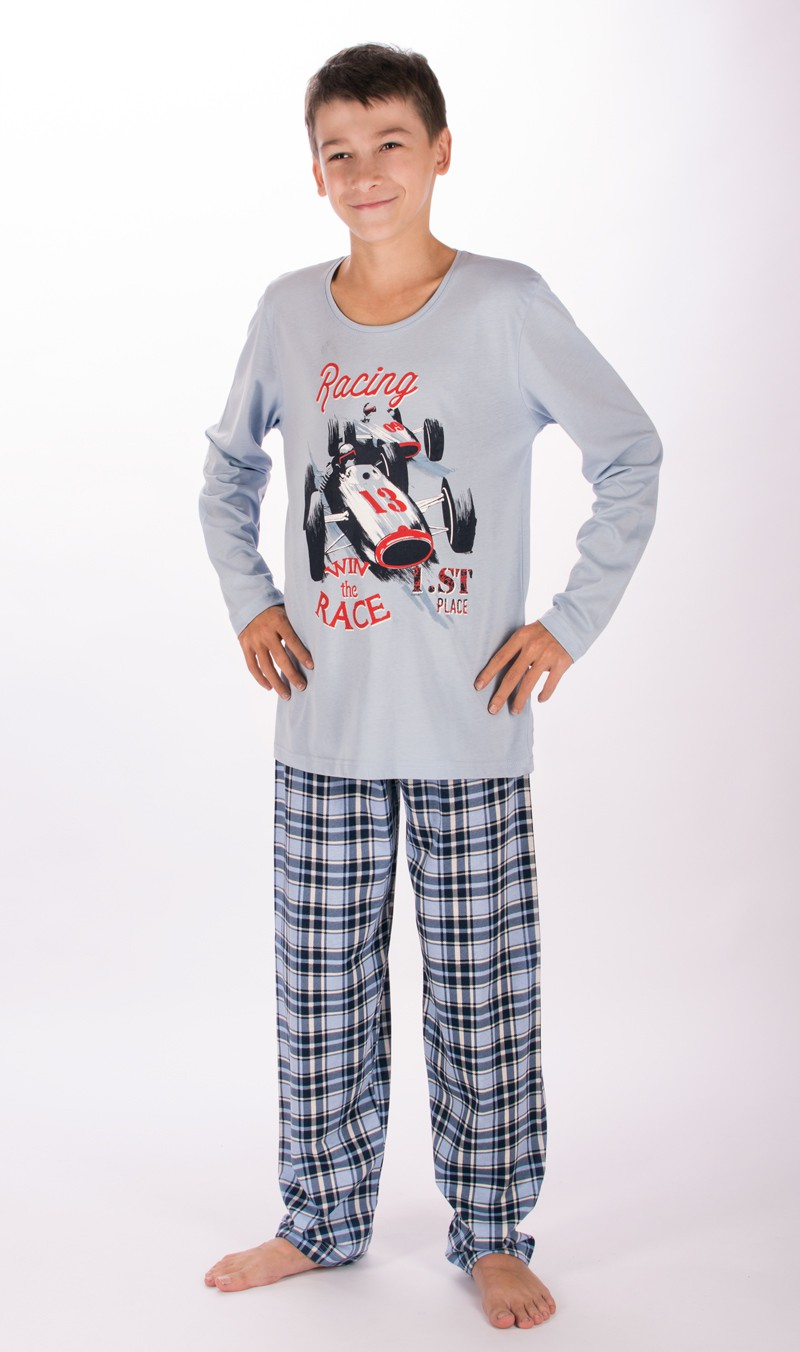 Dětské pyžamo dlouhé Vienetta Secret Závodní auto