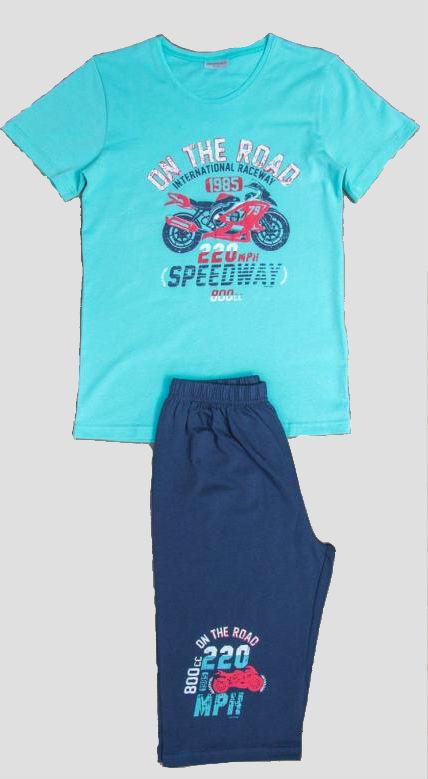 Dětské pyžamo kapri Vienetta Secret Motorka