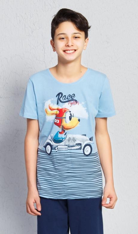 Dětské pyžamo kapri Vienetta Secret Závodník