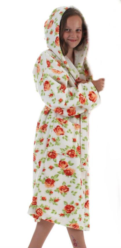 Dětský župan s kapucí Vestis 9149 Rose