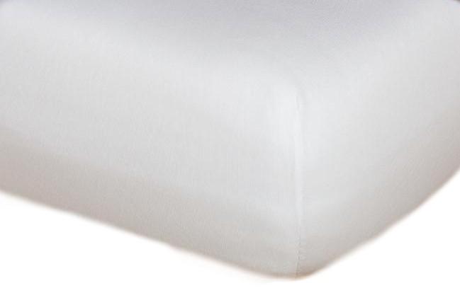 Jersey prostěradlo bílá A