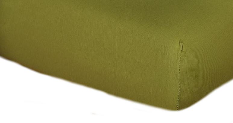 Jersey prostěradlo olivová C