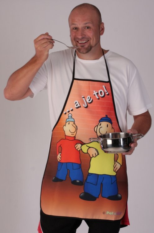 Kuchyňská zástěra Pat a Mat GESTO