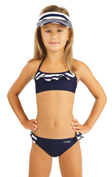 Litex 88464 Dívčí plavky top s volánkem