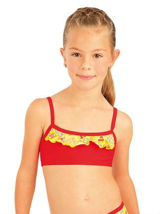 Litex 93568 Dívčí plavky top s volánkem