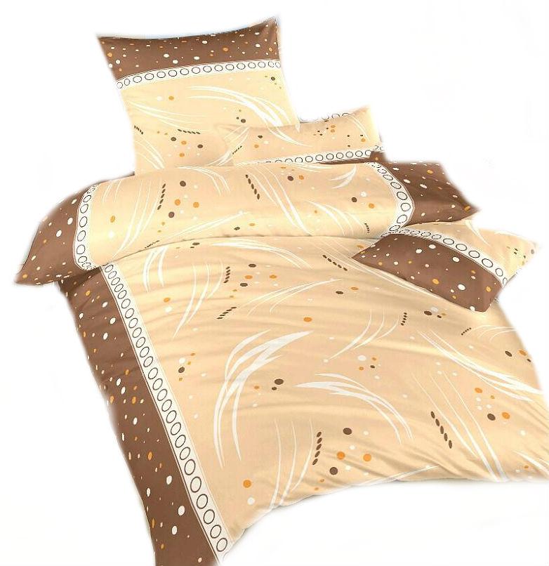 Ložní povlečení bavlna DADKA Galaxie nugát