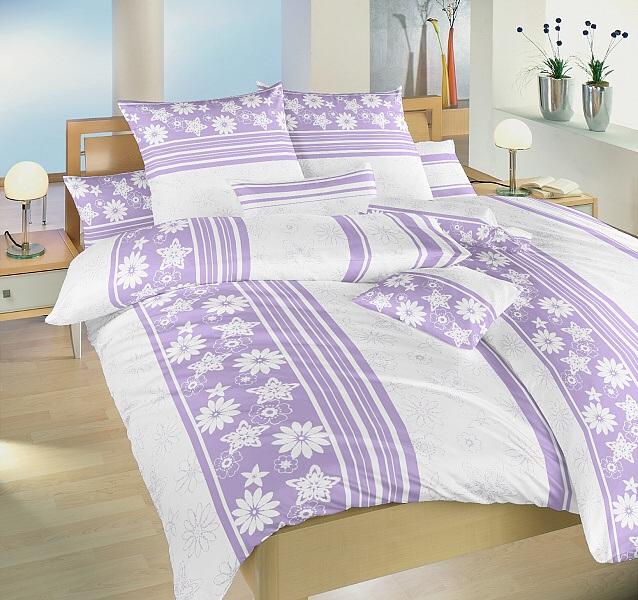 Ložní povlečení bavlna Dadka Kaleidoskop lila