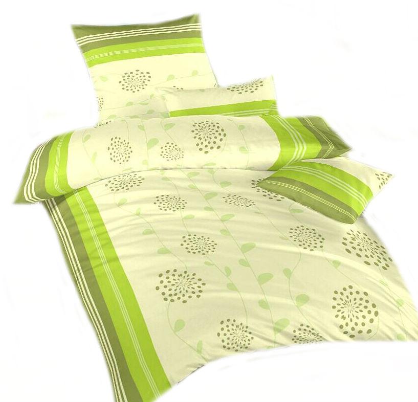 Ložní povlečení bavlna DADKA Liána zelená