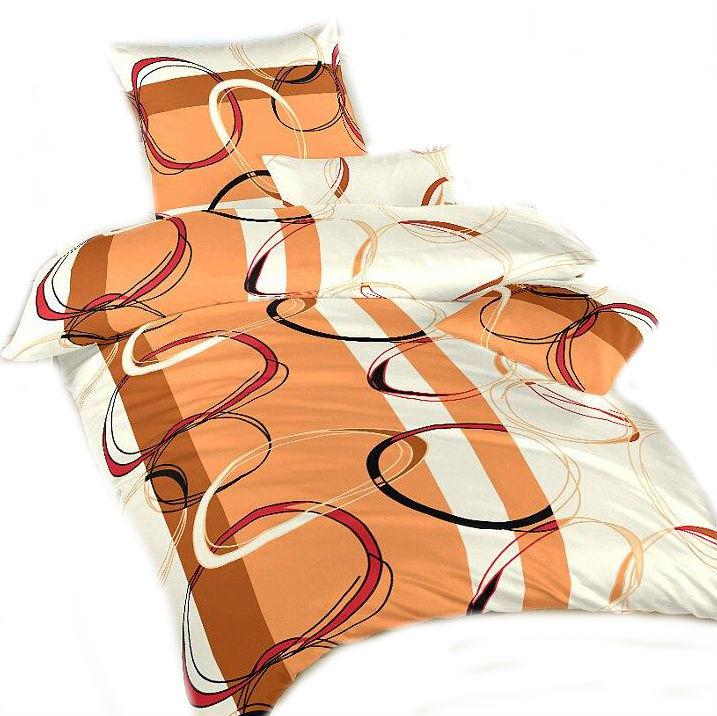 Ložní povlečení bavlna DADKA Prsteny karamel