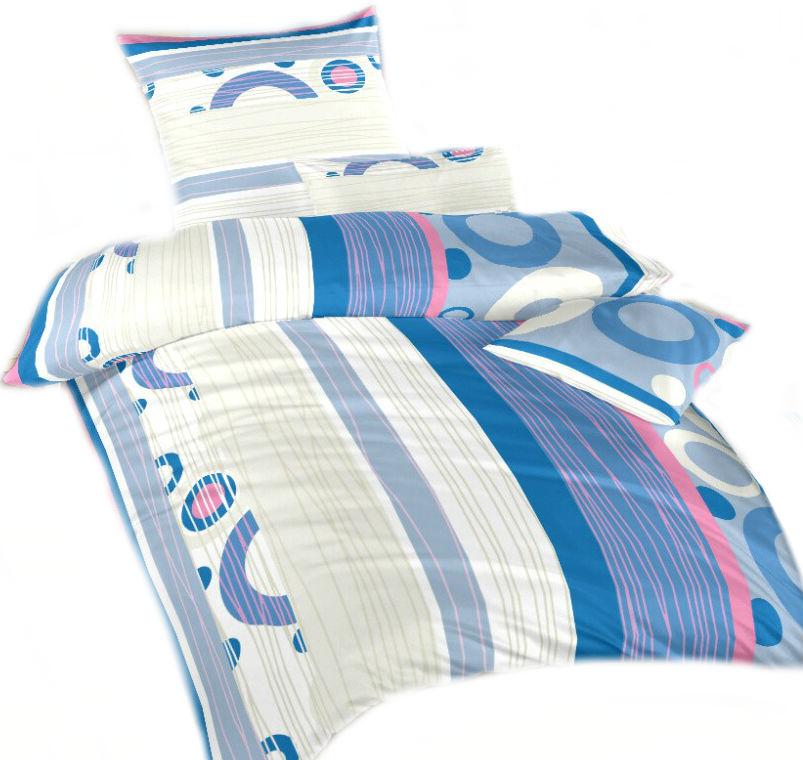 Ložní povlečení krep DADKA Lipo modré