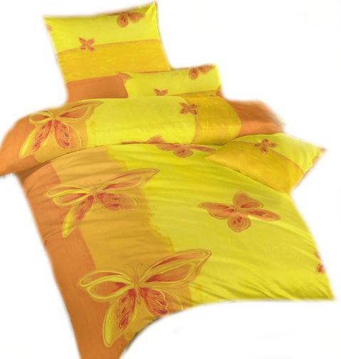 Ložní povlečení krep Motýl žlutý