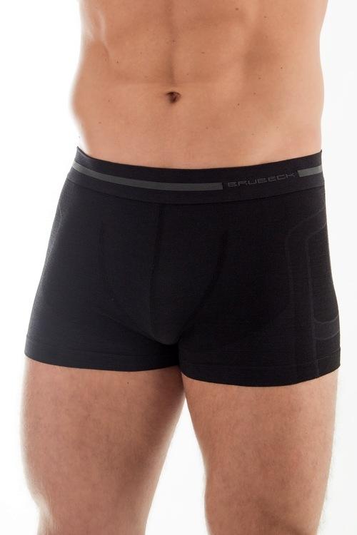 Pánské boxerky Brubeck Wool BX 10430 černé