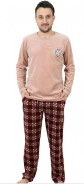 Pánské pyžamo dlouhé velurové Vienetta Secret Marek