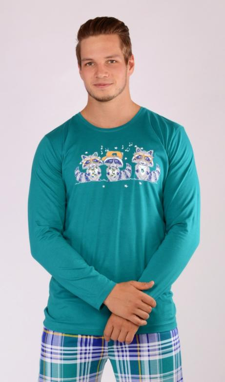 Pánské pyžamo dlouhé Vienetta Secret Mývalové