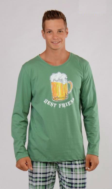 Pánské pyžamo dlouhé Vienetta Secret Pivo