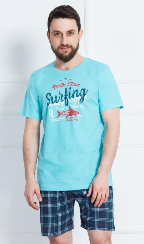 Pánské pyžamo šortky Vienetta Secret Surfing