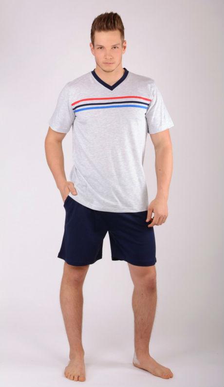 Pánské pyžamo šortky Vienetta Secret Pruhy výprodej