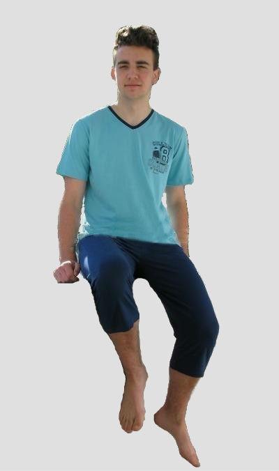 Pánské pyžamo Vienetta Secret Americký fotbal kapri