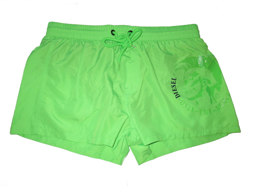 Pánské šortky DIESEL SV9U - fluo zelená