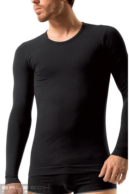 Pánské tričko Brubeck LS 01120 Long sleeve black