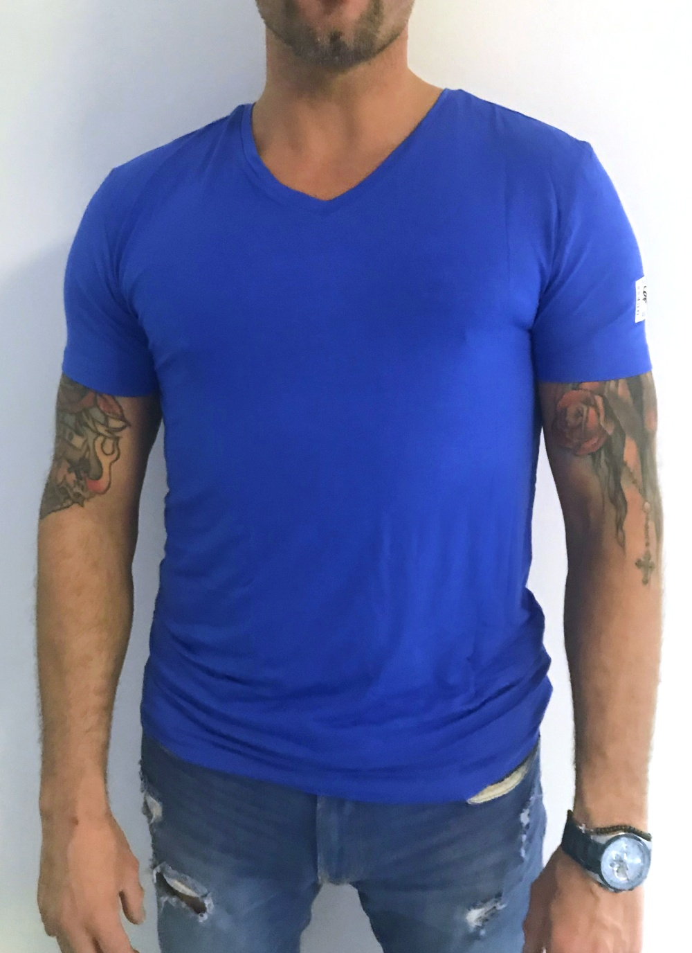Pánské tričko Guess U02M01 modrá