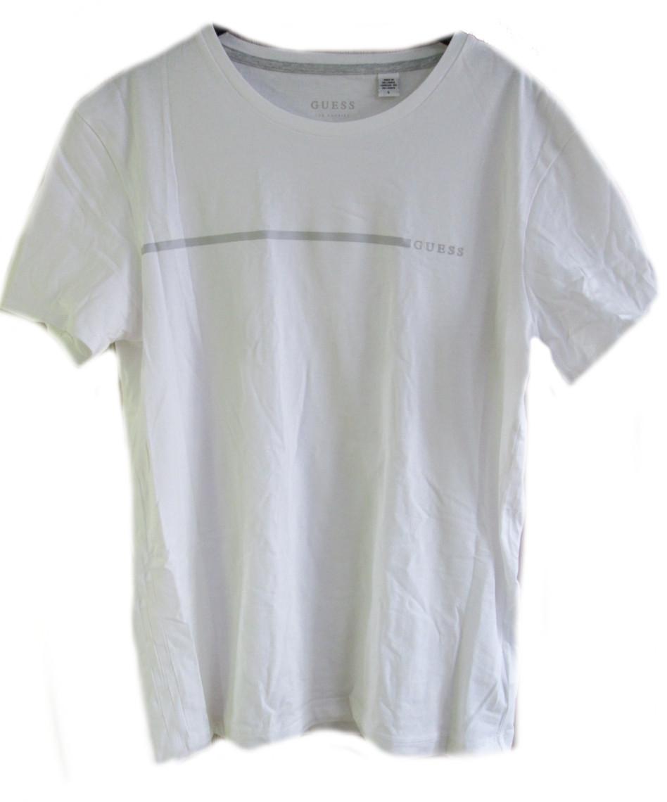 Pánské triko GUESS U92G10 bílé