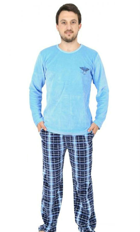 Pánské velurové pyžamo dlouhé Vienetta Secret Albert