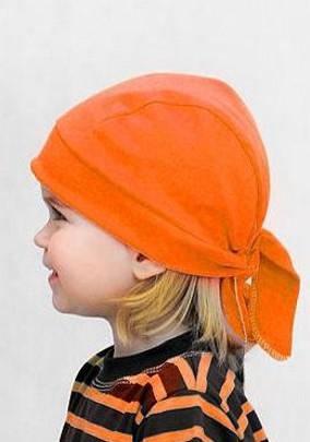 Pirátský šátek Farmers - CHOCO oranž / kiwi