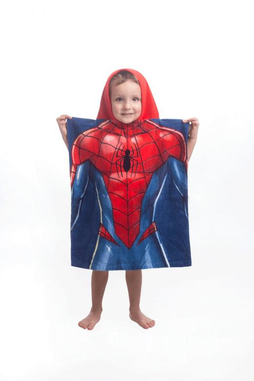 Pončo Spiderman blue